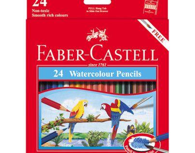 مداد آبرنگی - جعبه مقوایی - طرح طوطی 24 رنگ