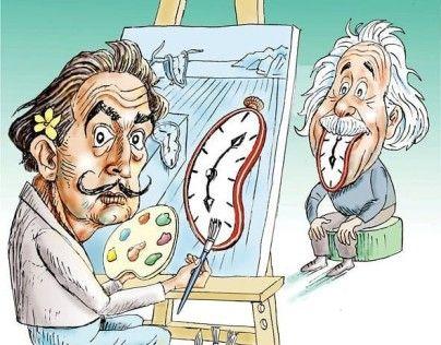 سالوادور دالی و اینشتین