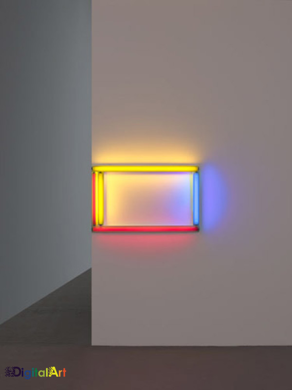 A primary picture by Dan Flavin